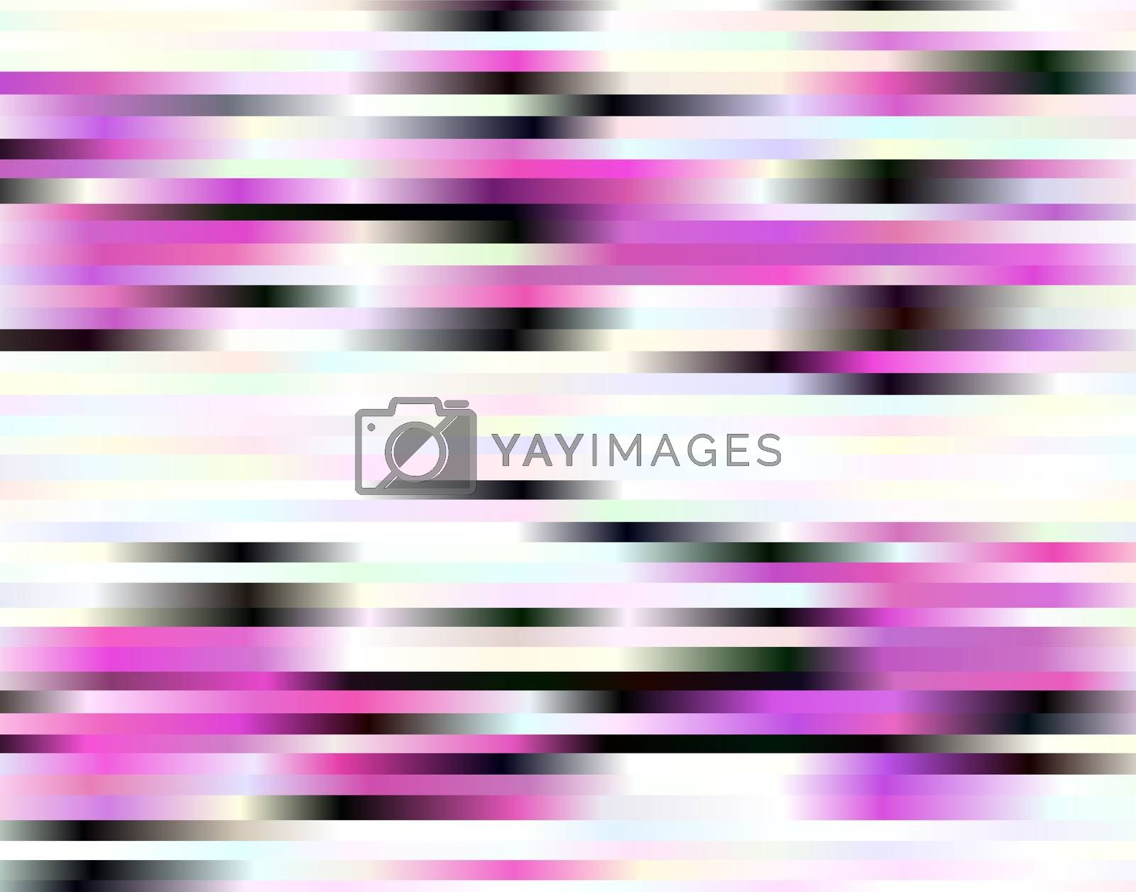 Abstract magenta, black and white horizontal stripes background