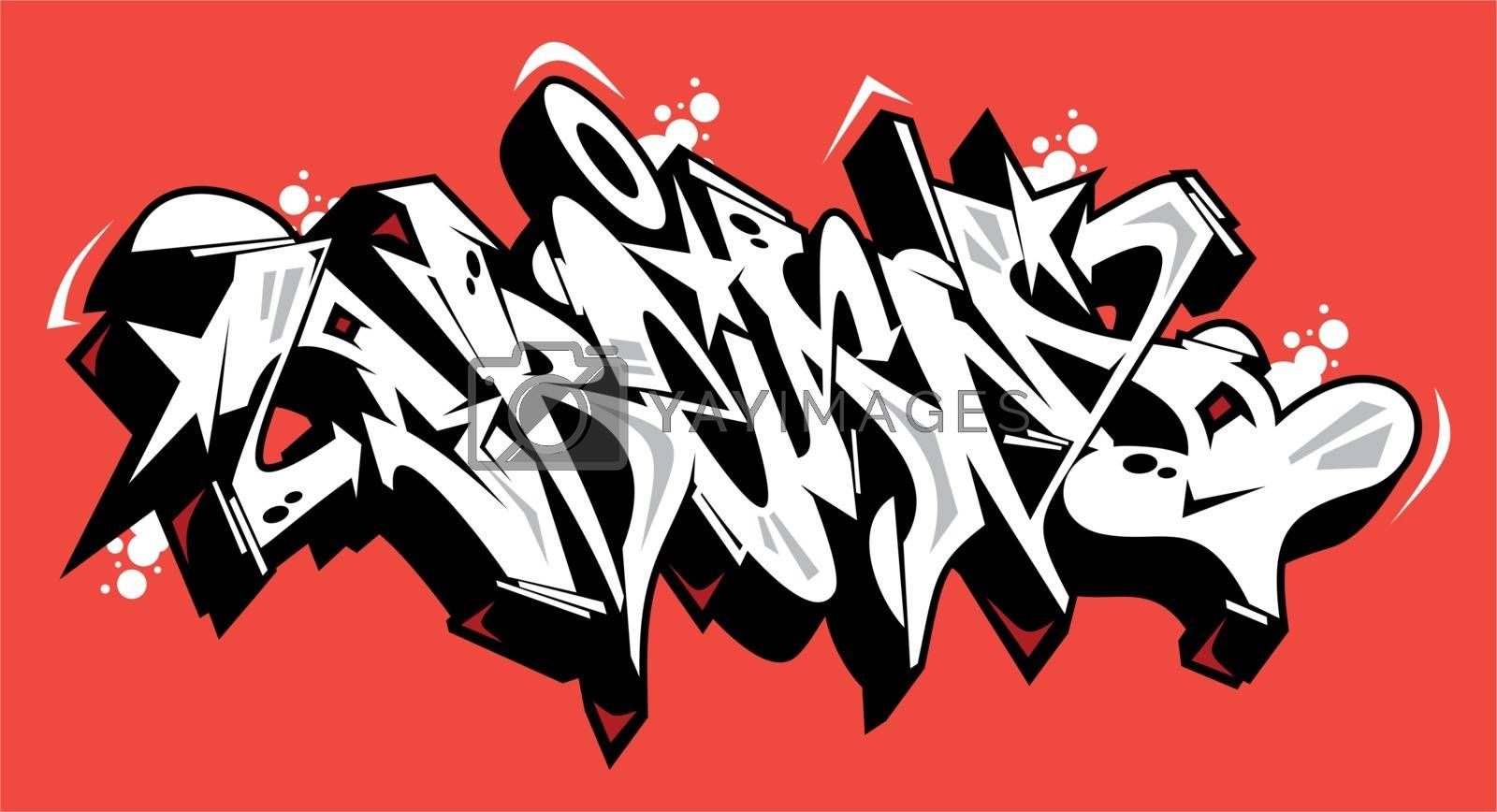 Dream Graffiti Font Lettering With A Red Background