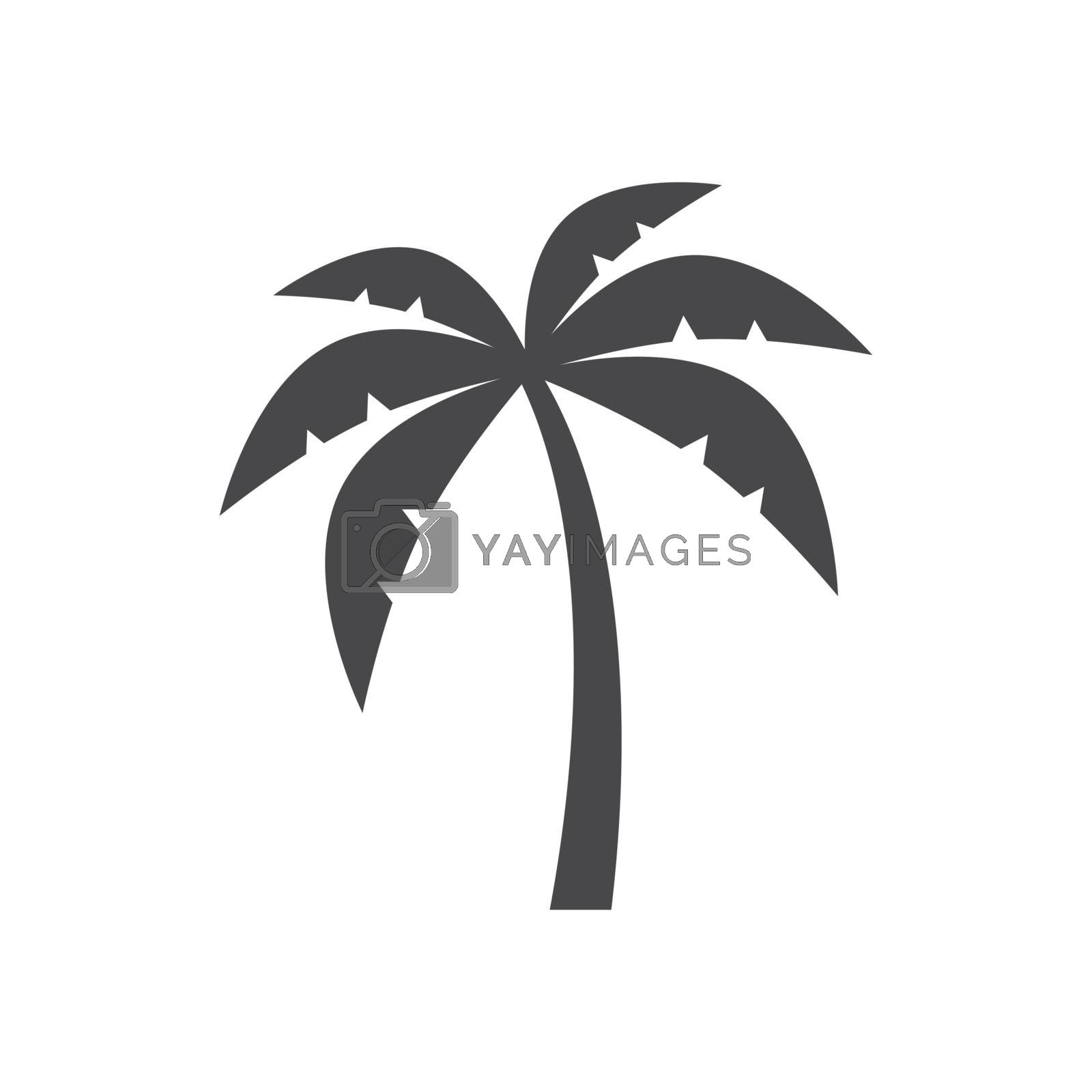 Palm tree black isolated vector icon