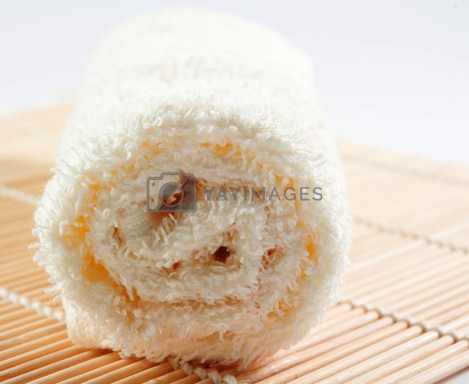 spa towel closeup