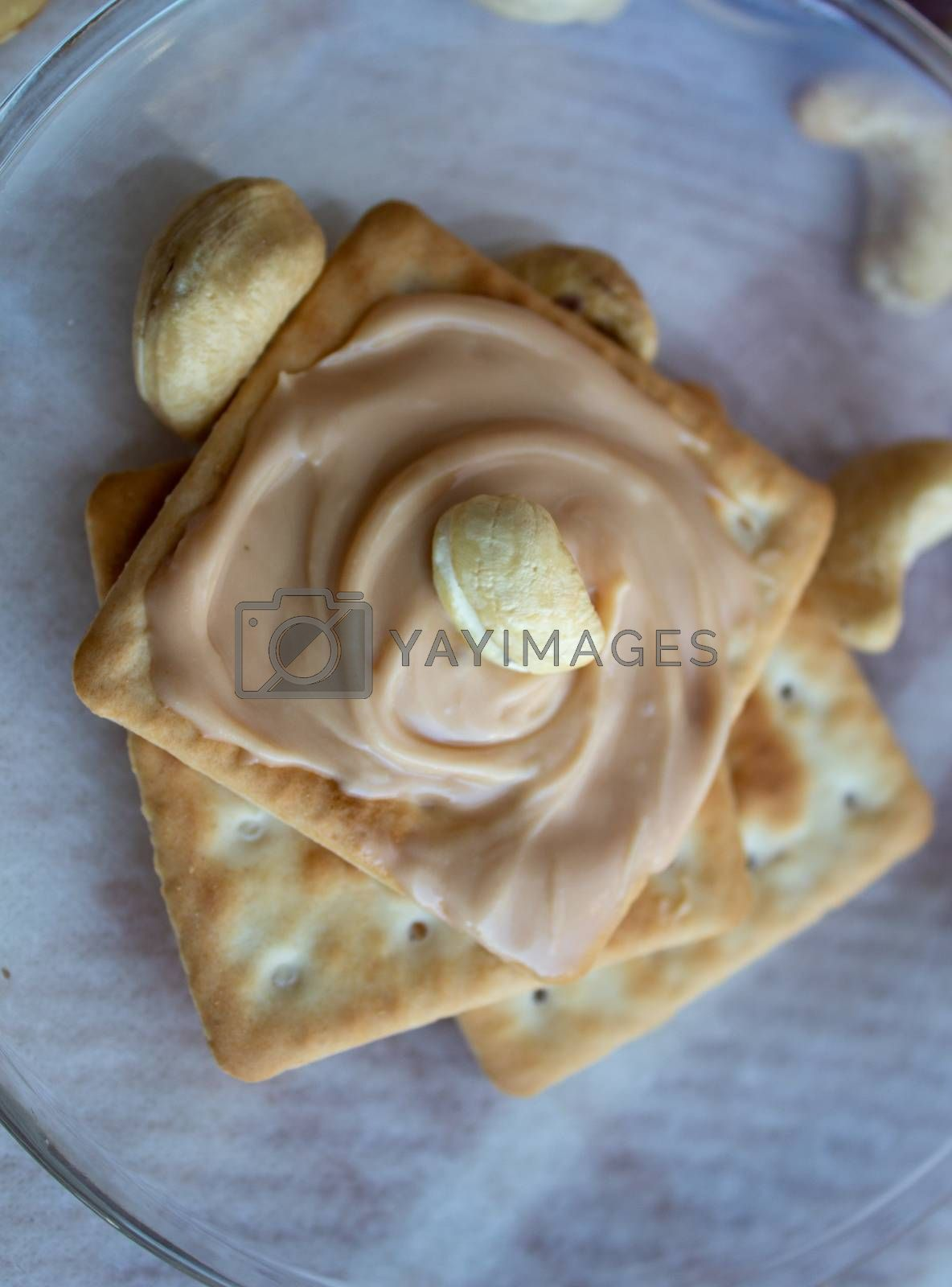Delicious peanut butter on Cookies. Cookies for tea.