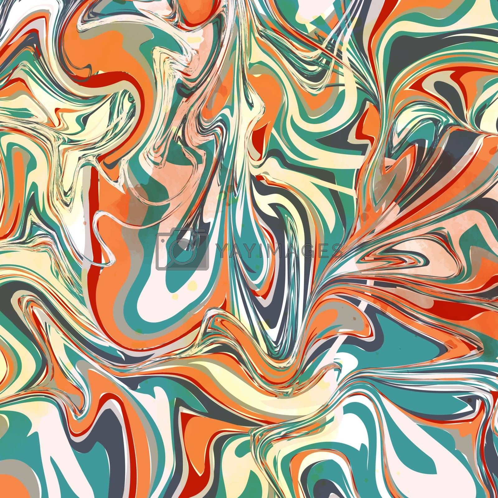 Abstract colorful marble paint background. Vector format