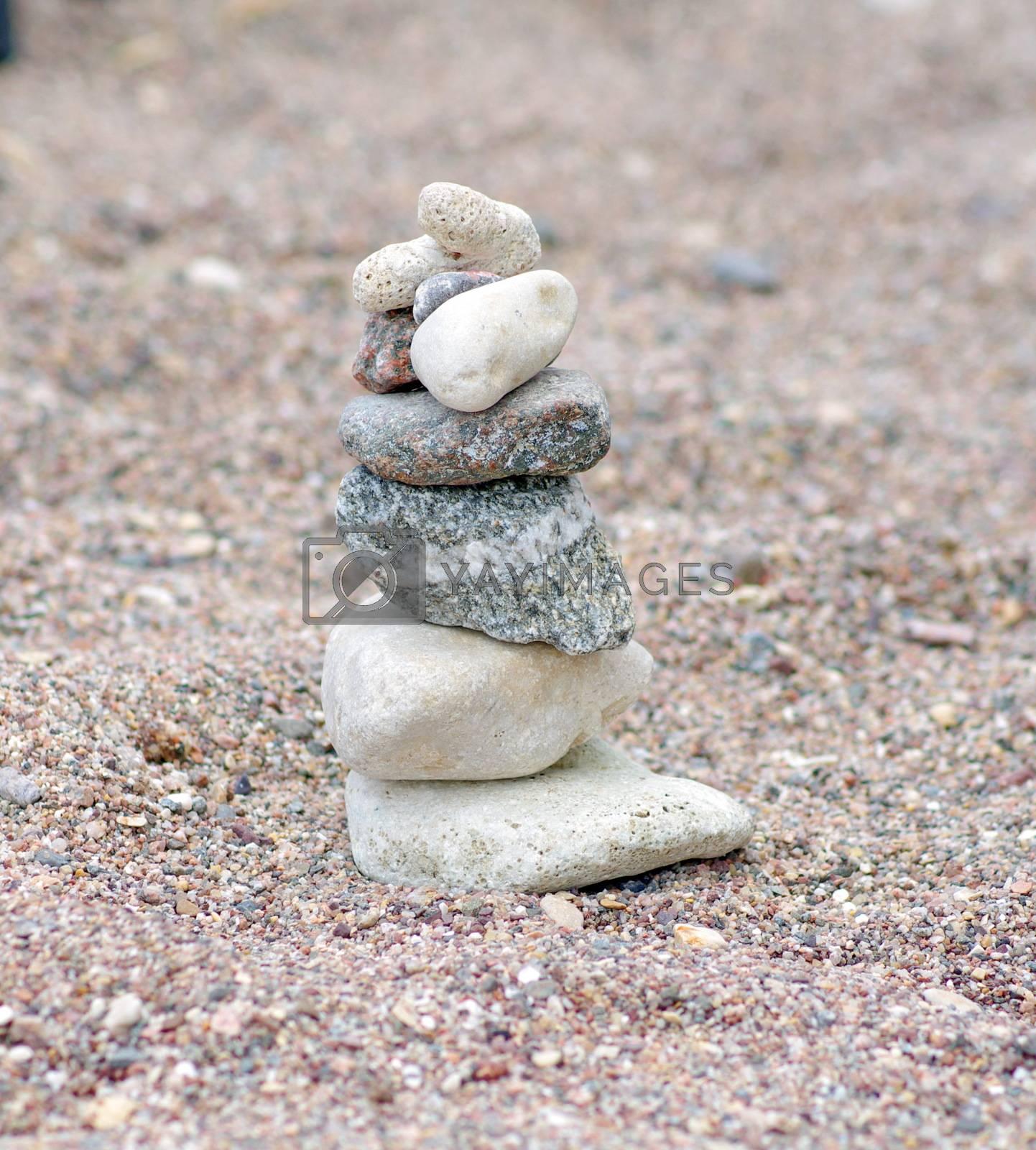 closeup of stones on the beach