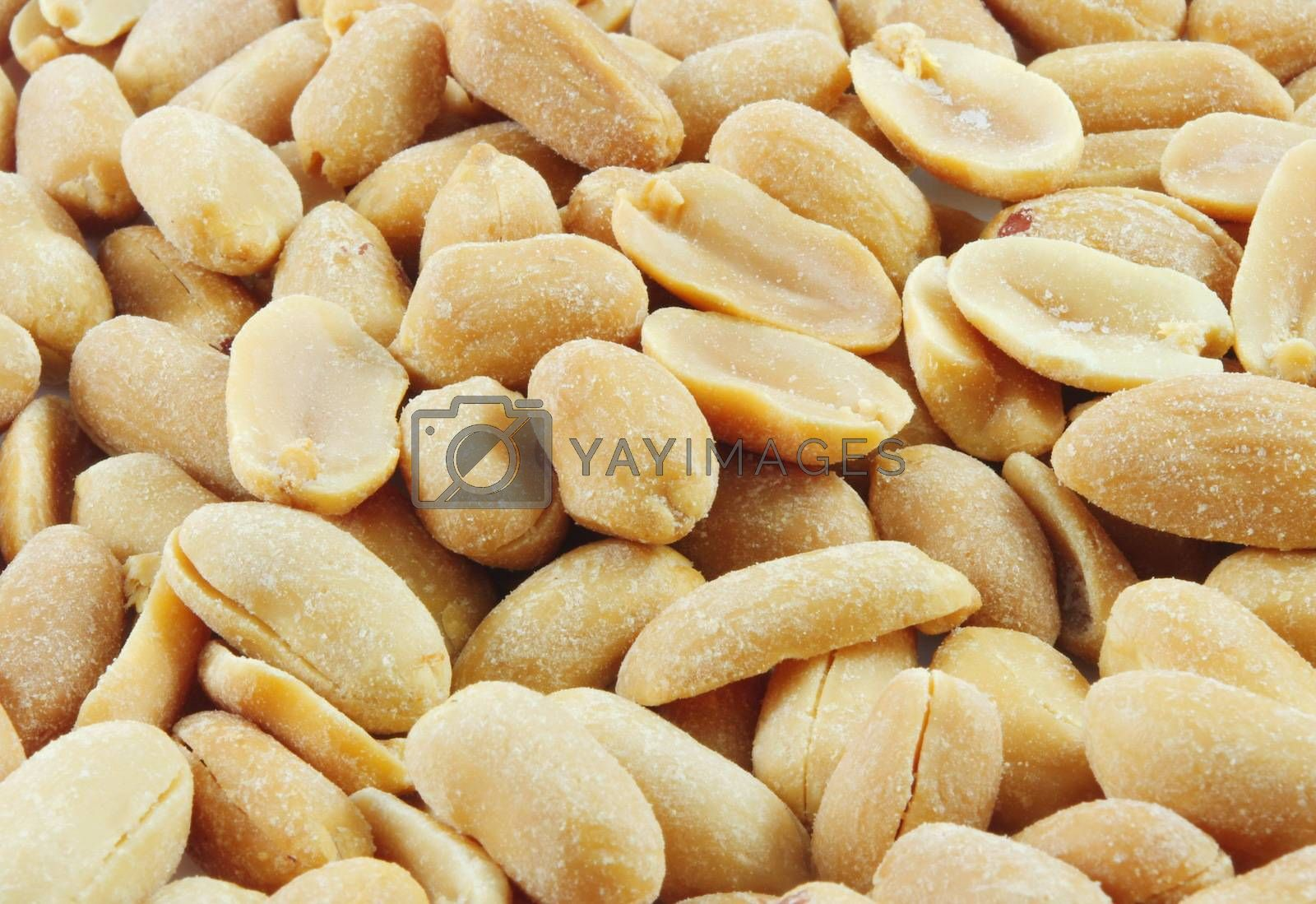 closeup of salty peanuts  as a background