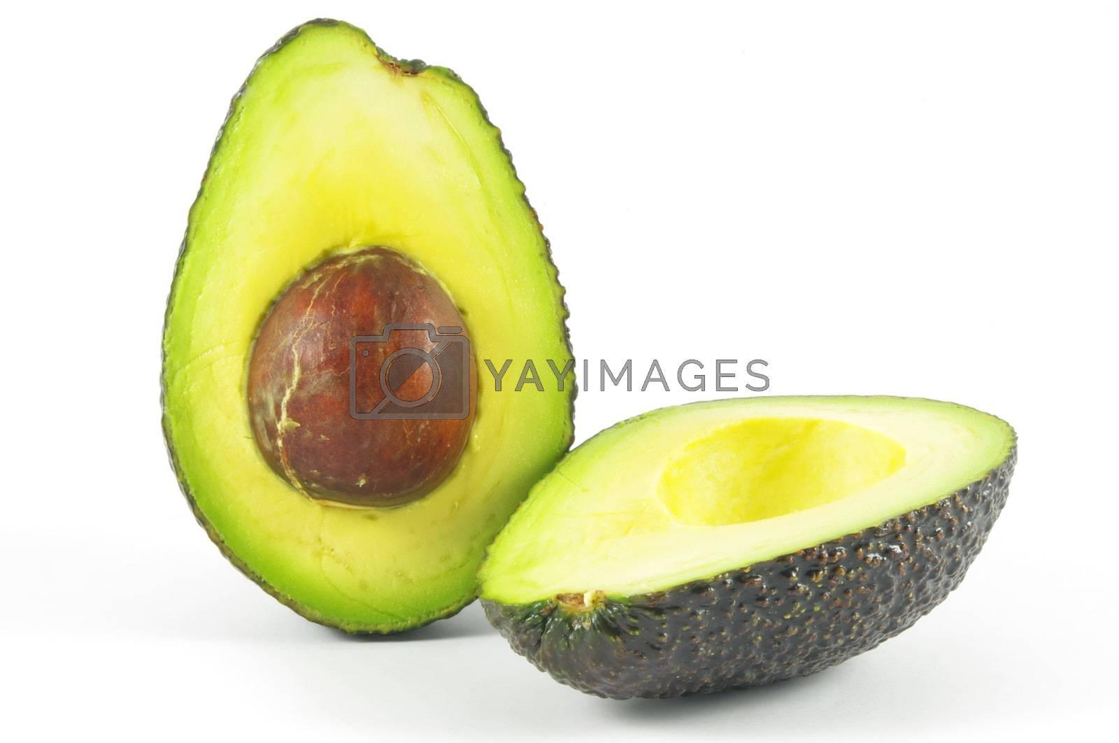 Closeup of fresh avocado
