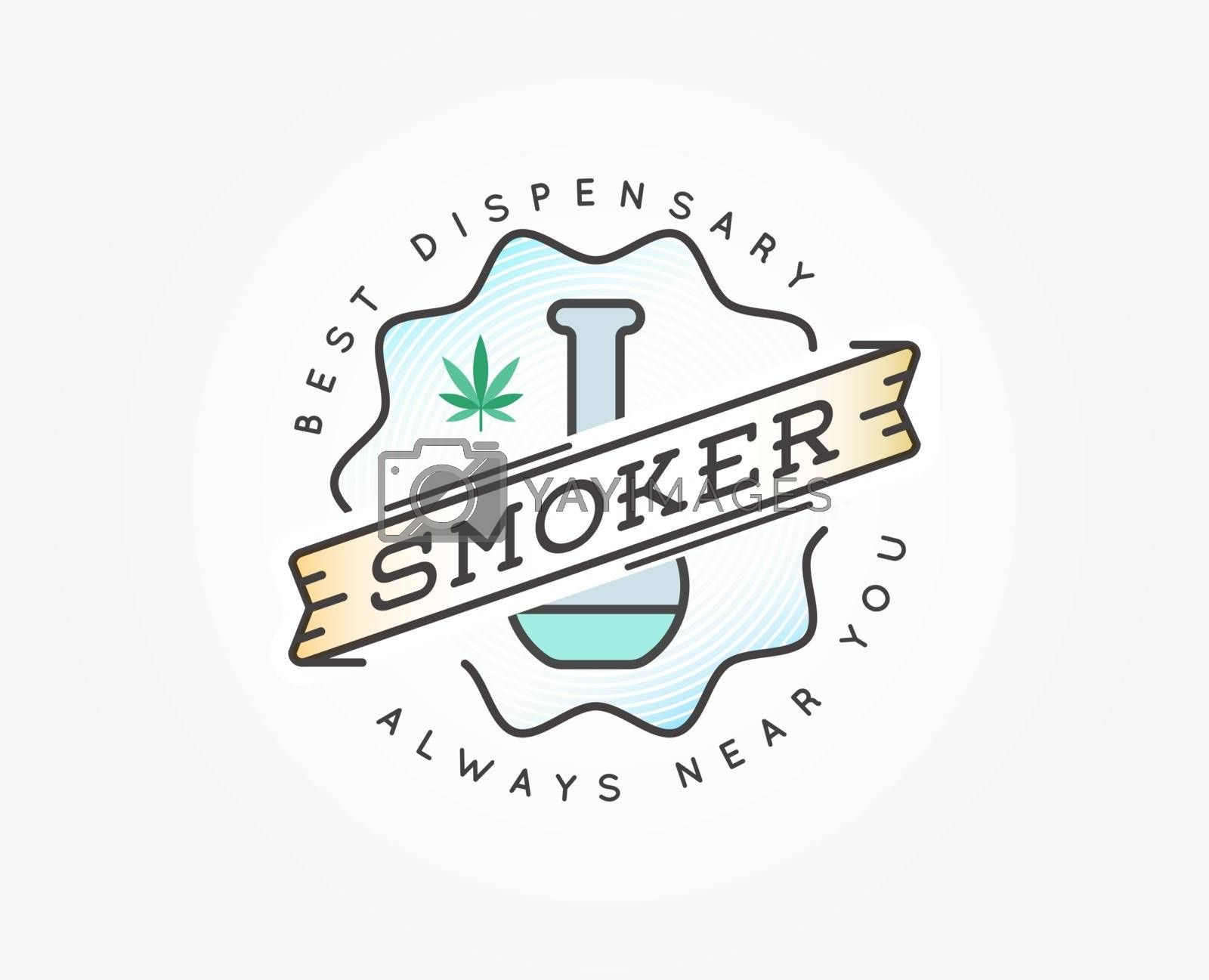 Medical Cannabis Marijuana Sign or Label Template in Vector. Can be used as a Logotype.