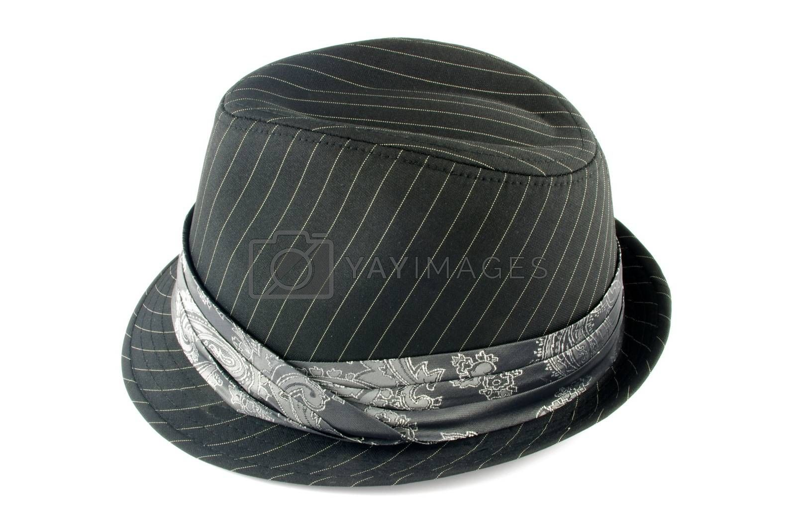 hat isolated above white surface