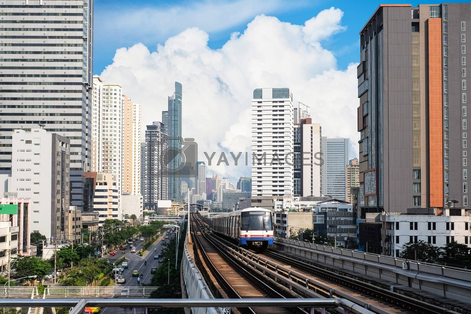 Sky Train at bangkok,thailand