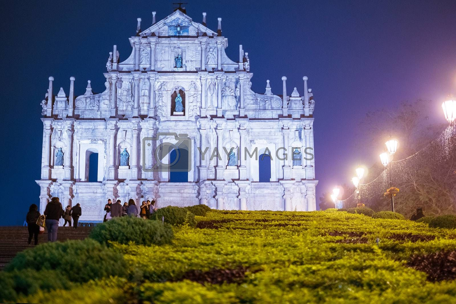 Ruins of St. Paul's. one of Macau most famouse landmark and fabulous UNESCO World Heritage Site.
