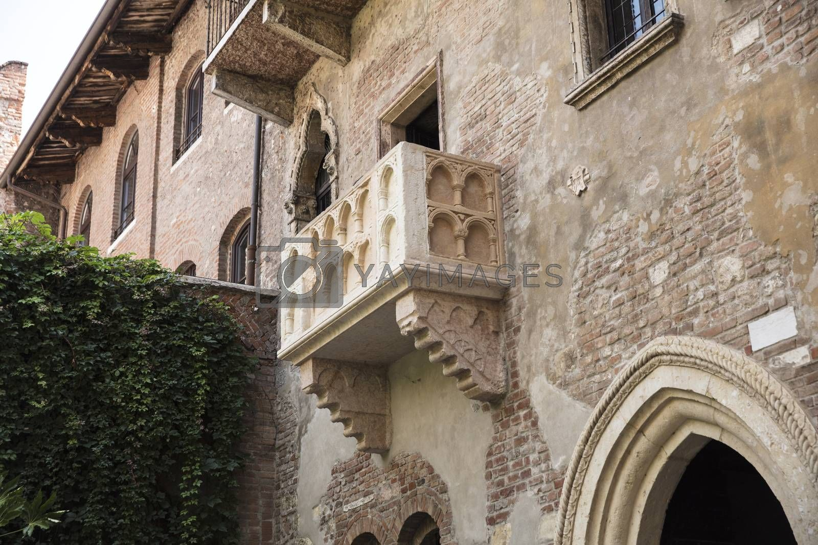 Verona, Italy, Europe, August 2019, the Balcony from Romeo and Juliet