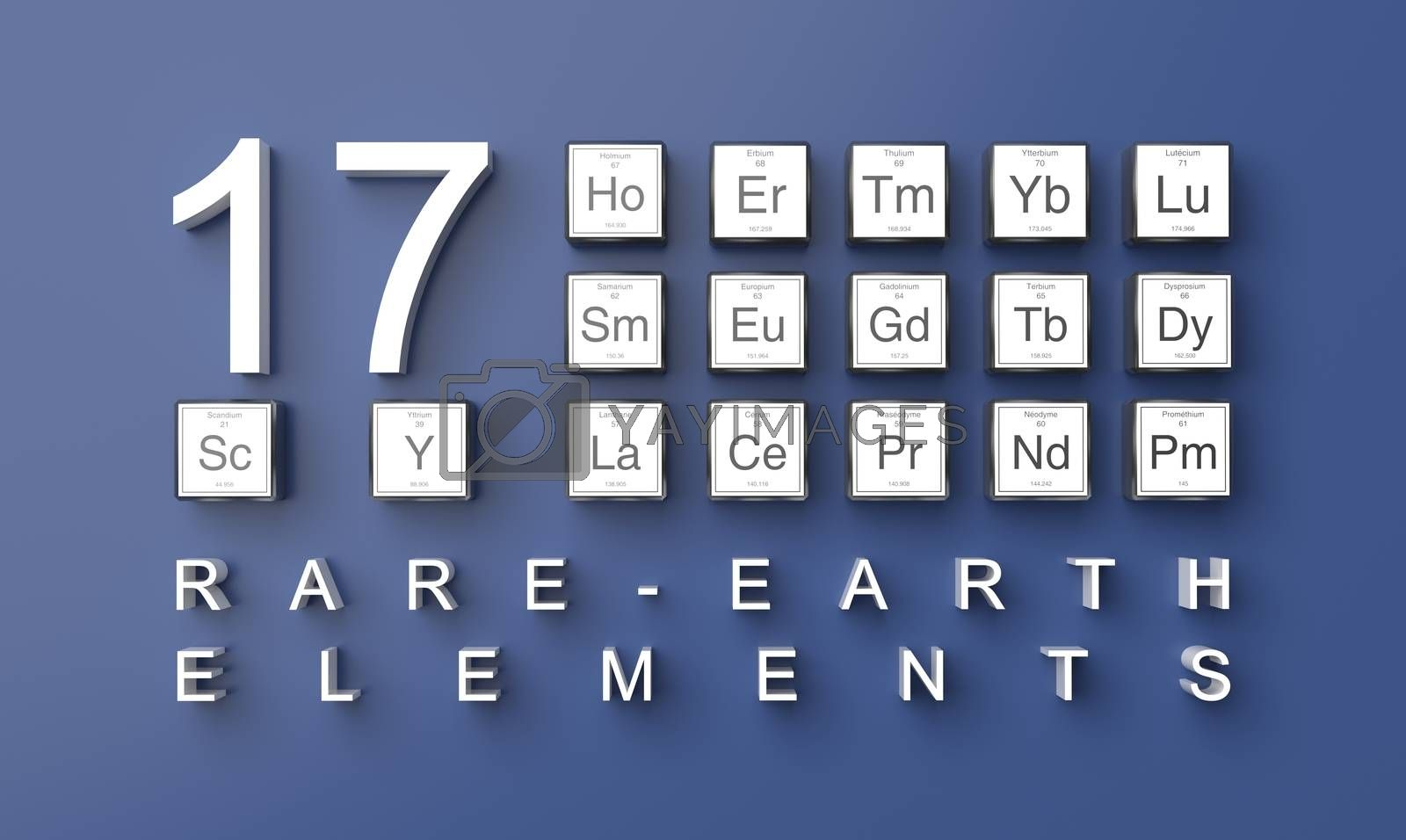 3D rendering rare earth elements