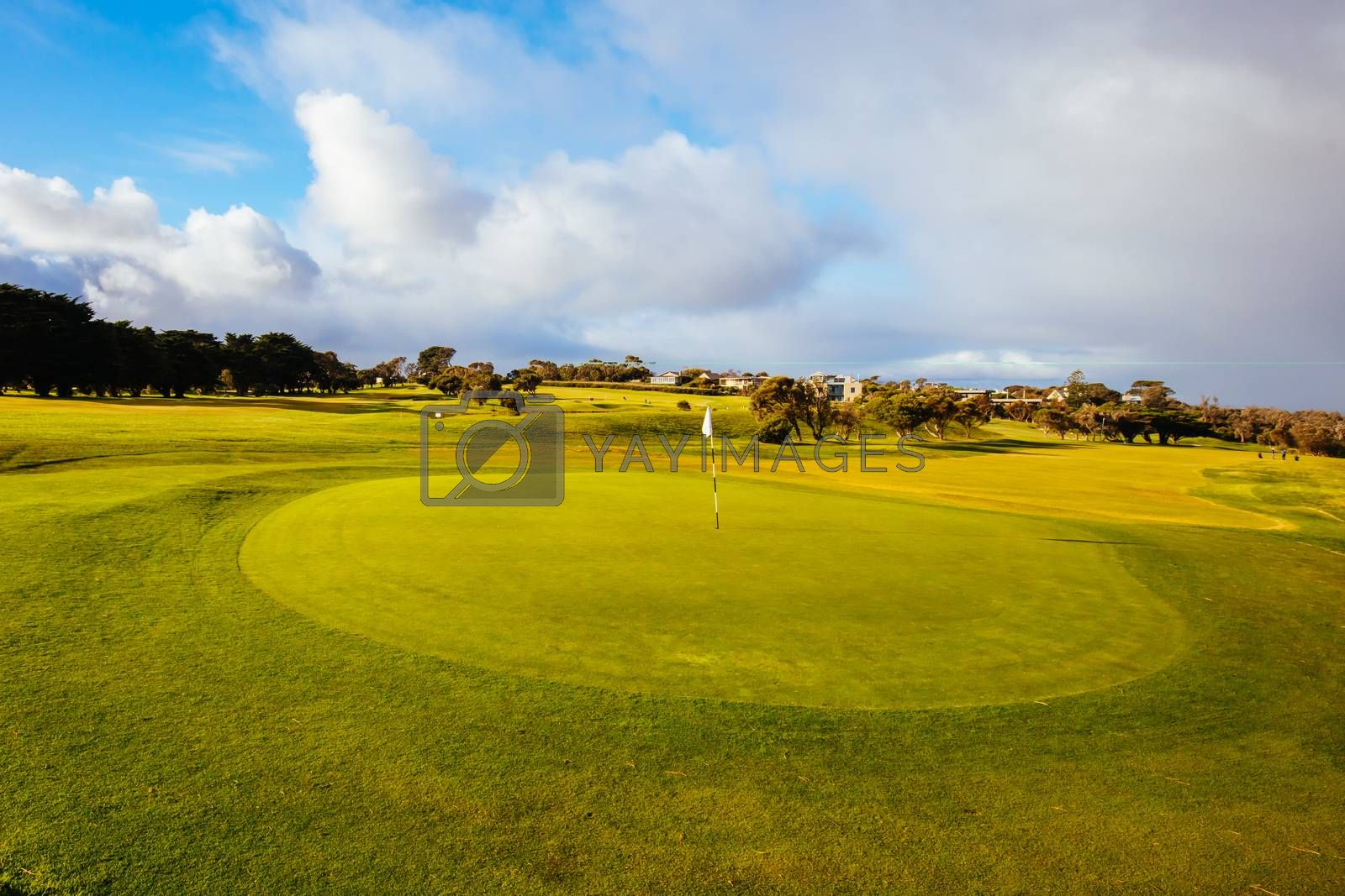 Flinders Golf Course on the Mornington Peninsula on a winter's afternoon in Victoria, Australia