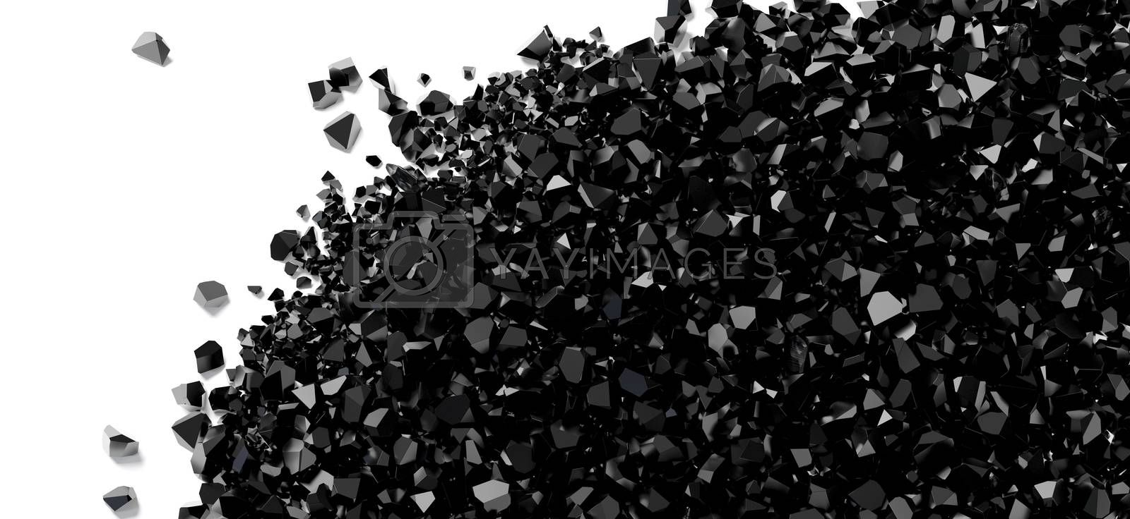 small black stones on a white background