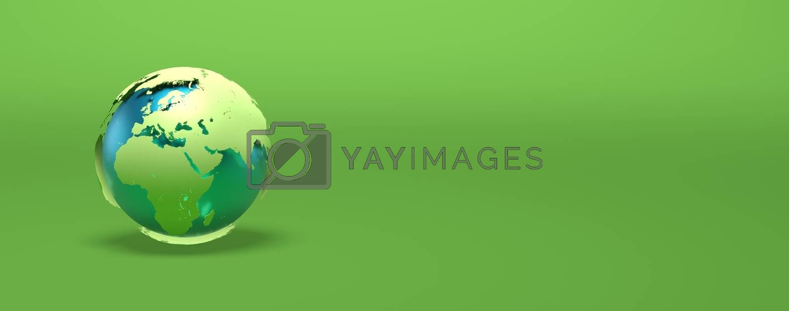 green earth 3D rendering illustration - ecology concept