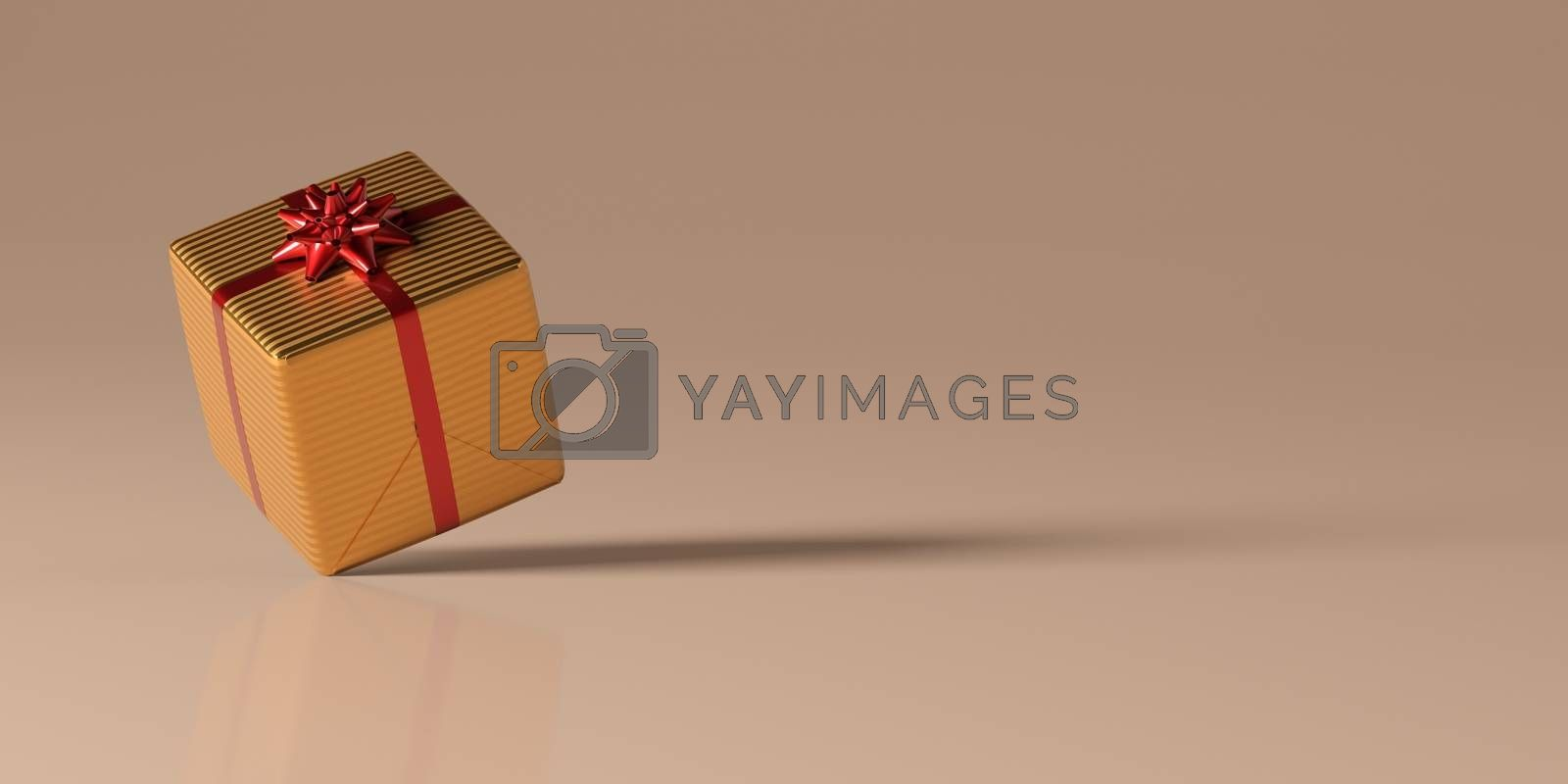 Christmas gift and balls on white background