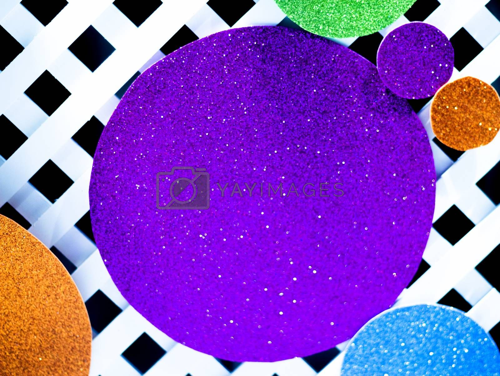 Abstract background with bright circles. No people