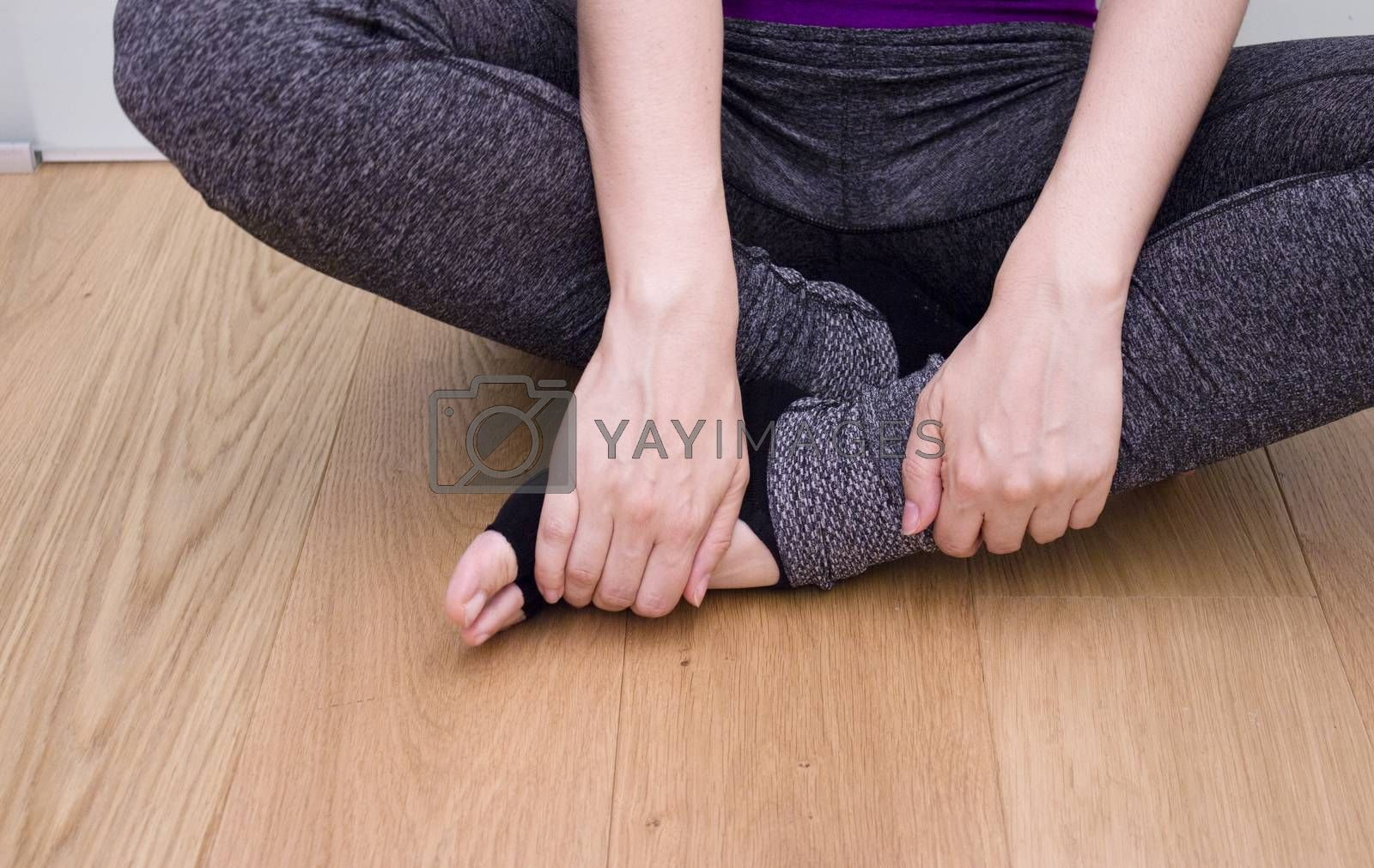 Womans hands practicing yoga and meditation positions.Mudras.