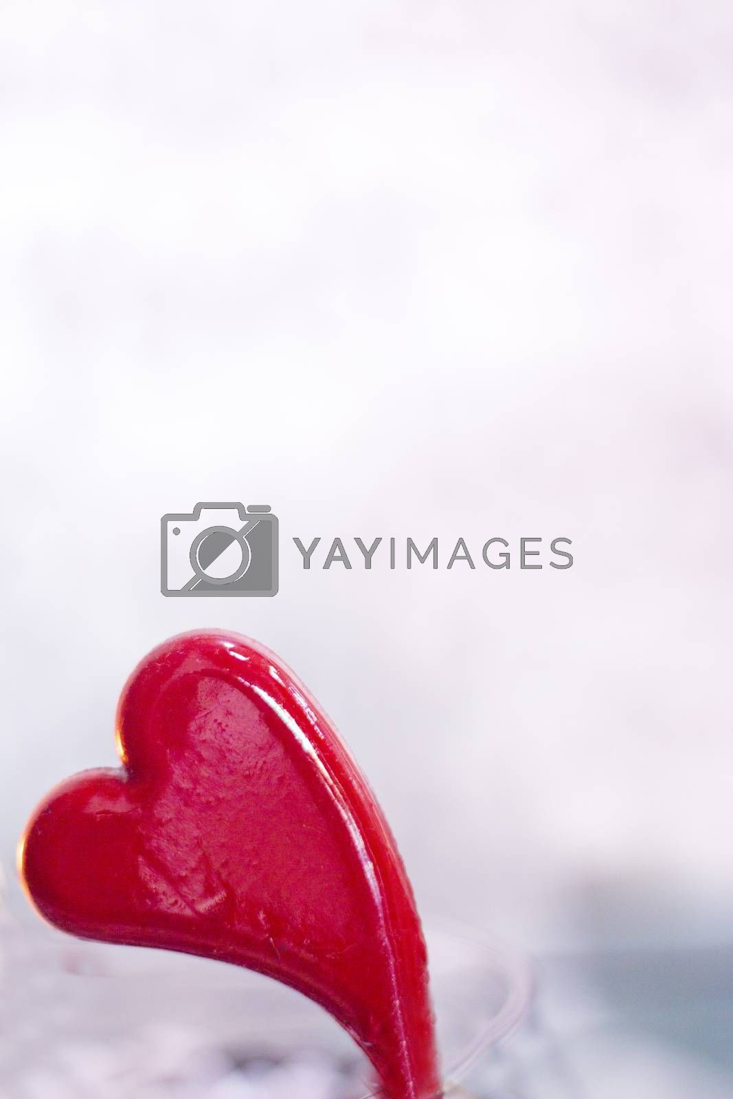 Heart on defocused background. No people