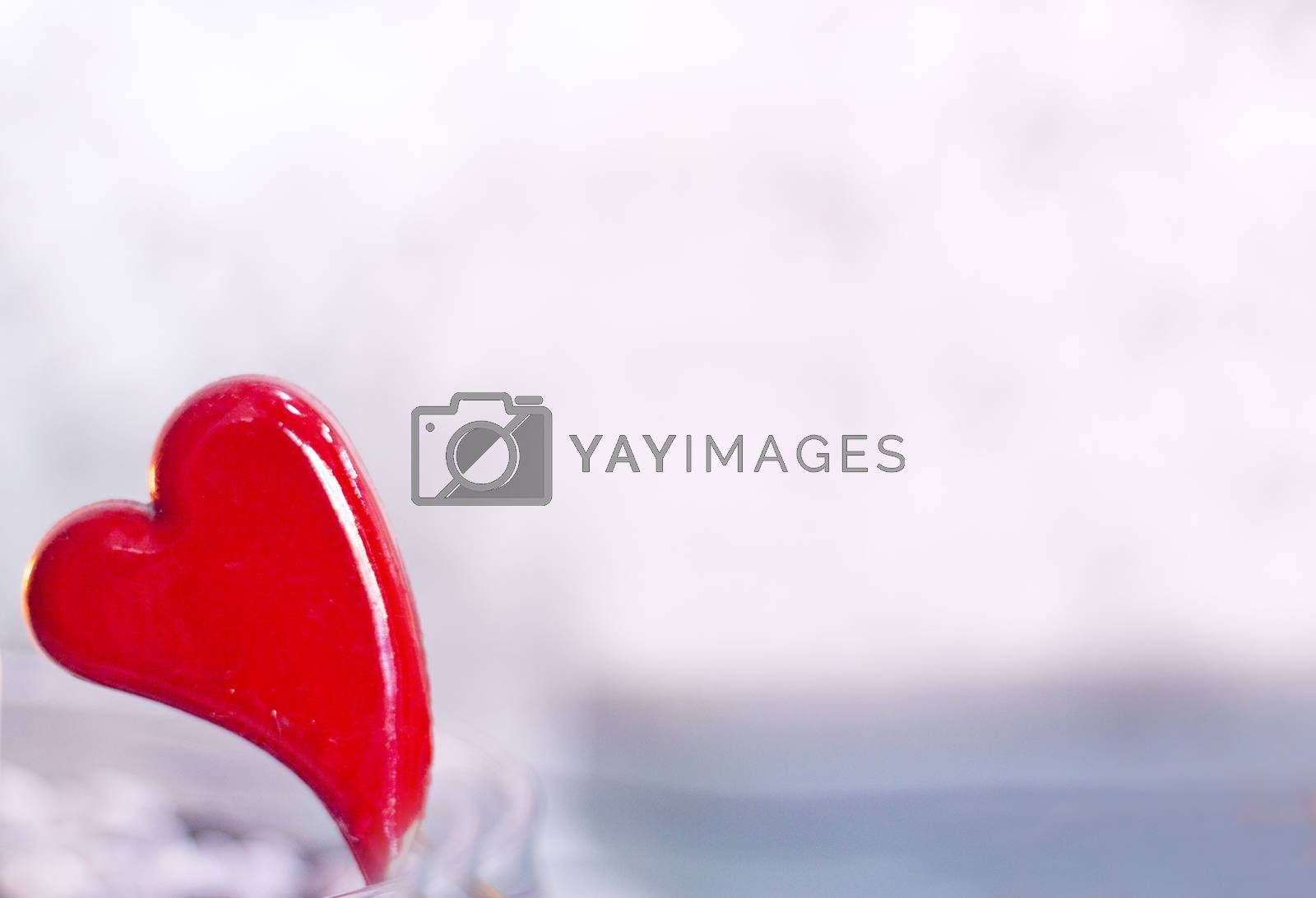 Heart on defocused background. No people