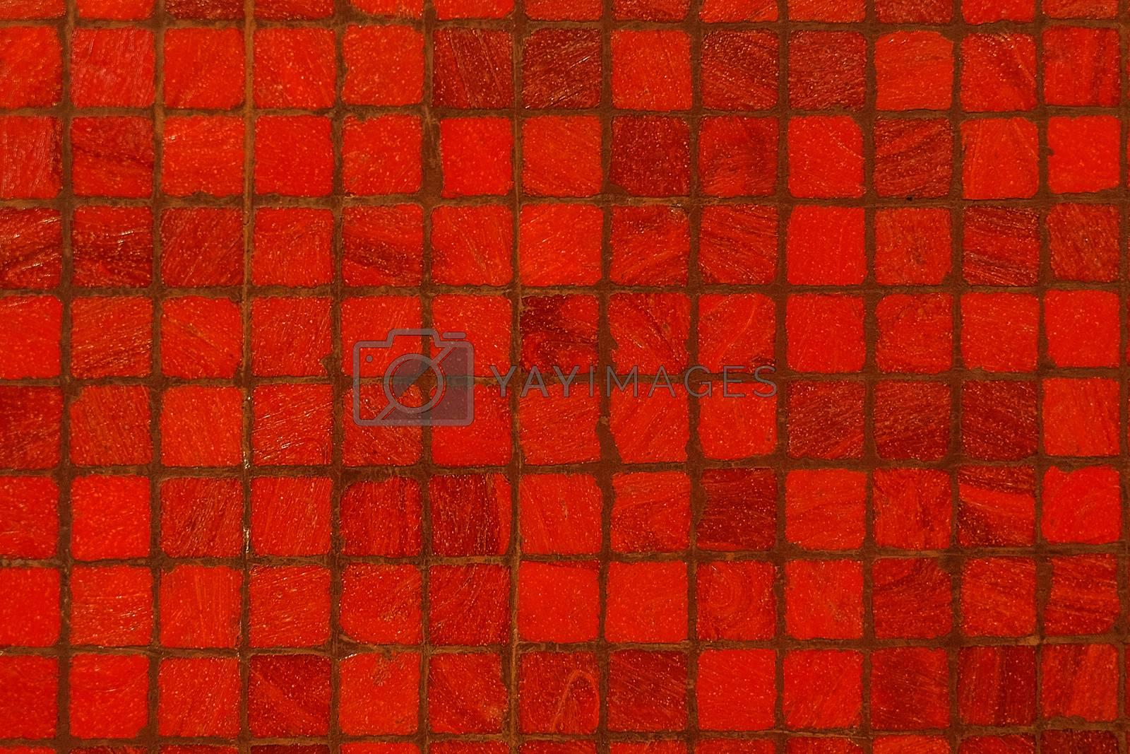 Red tile pattern
