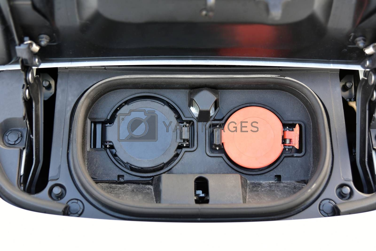 Electric vehicle charging socket by protective cover by aselsa