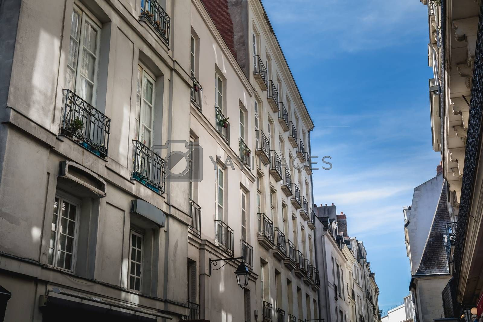 detail of architecture and street atmosphere in Nantes by AtlanticEUROSTOXX