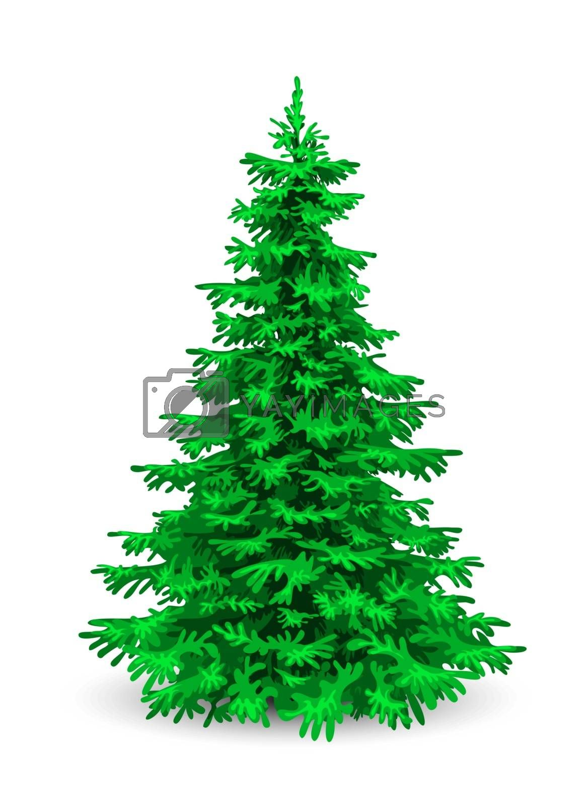 Fluffy green christmas tree by liolle