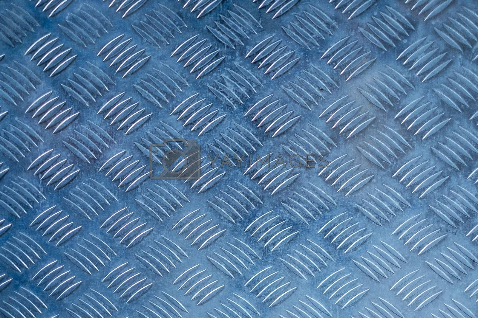 Blue Metal silver with rhombus shapes and texture