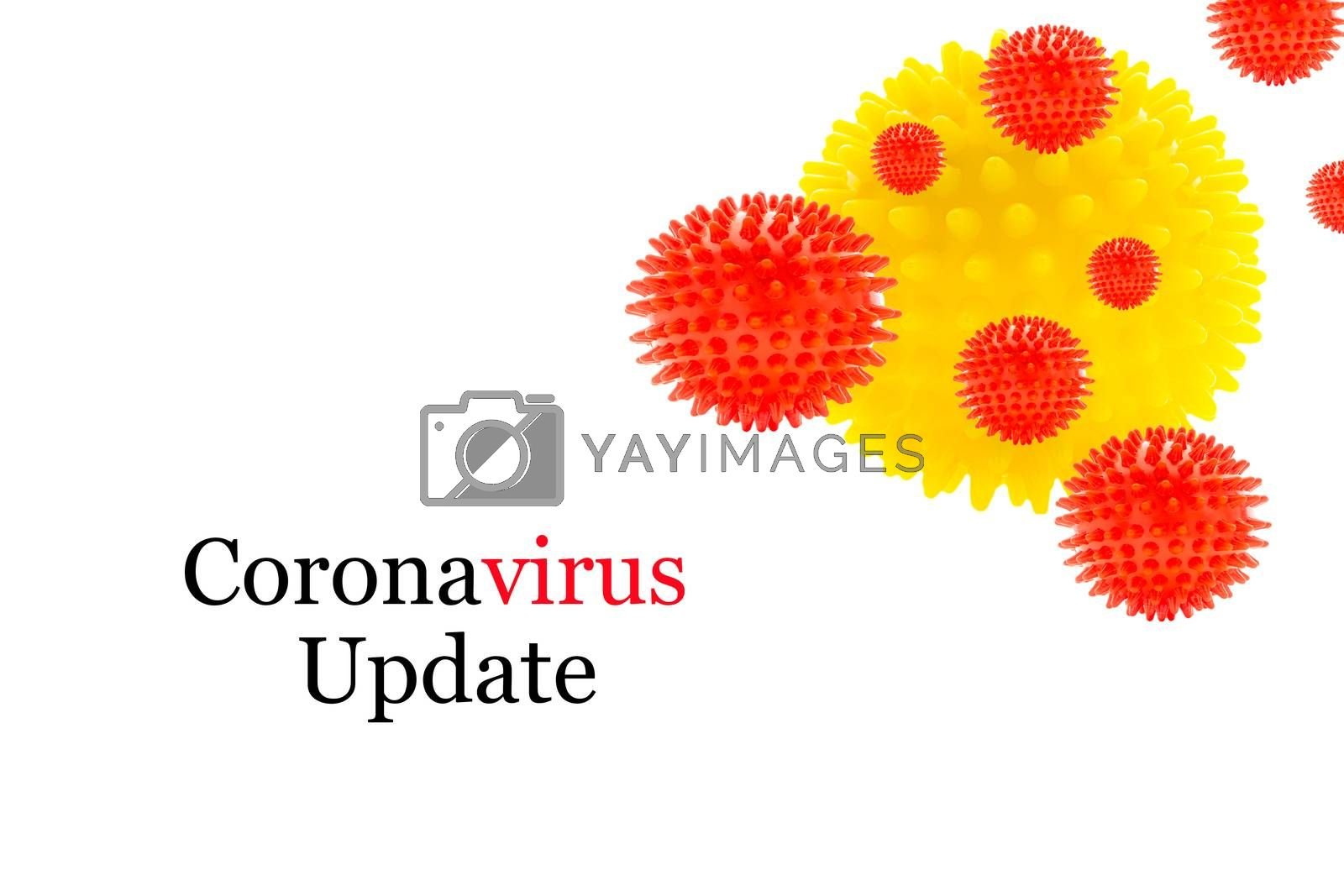 CORONAVIRUS UPDATE text on white background. Covid-19 or Coronavirus