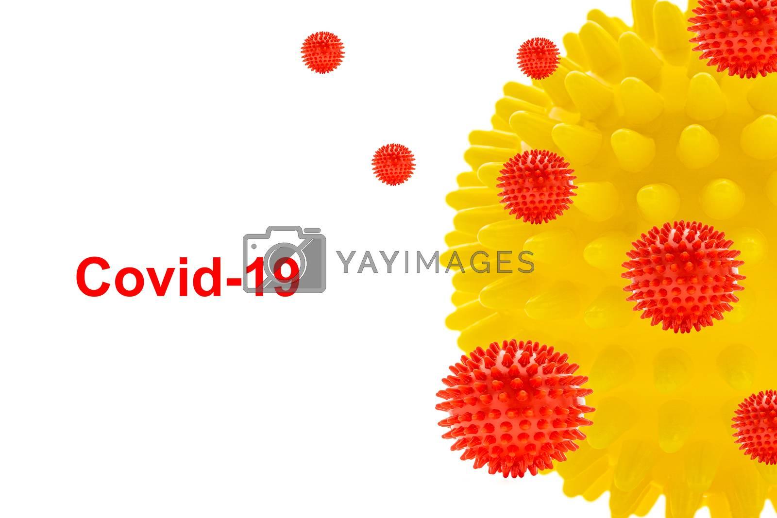 COVID-19 text on white background. Covid-19 or Coronavirus