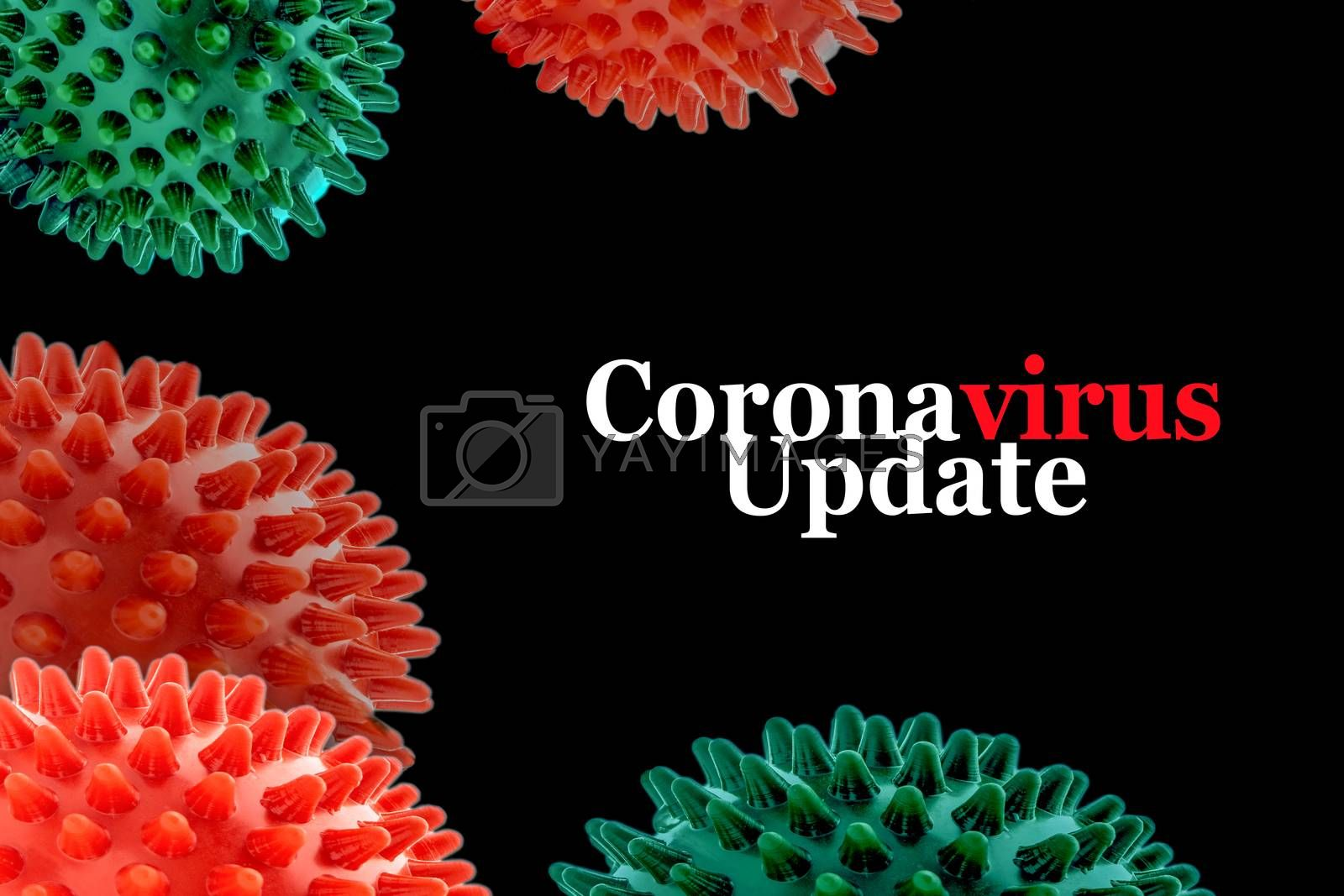 CORONAVIRUS UPDATE text on black background. Covid-19 or Coronavirus concept