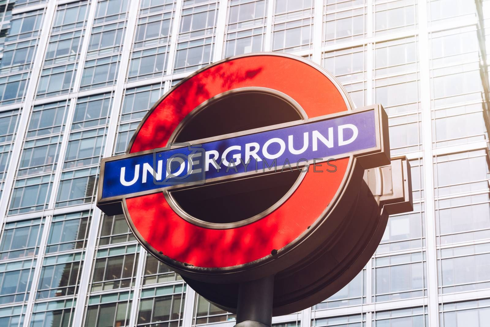 Royalty free image of London, England - April 3, 2017: The London Underground sign out by DaLiu