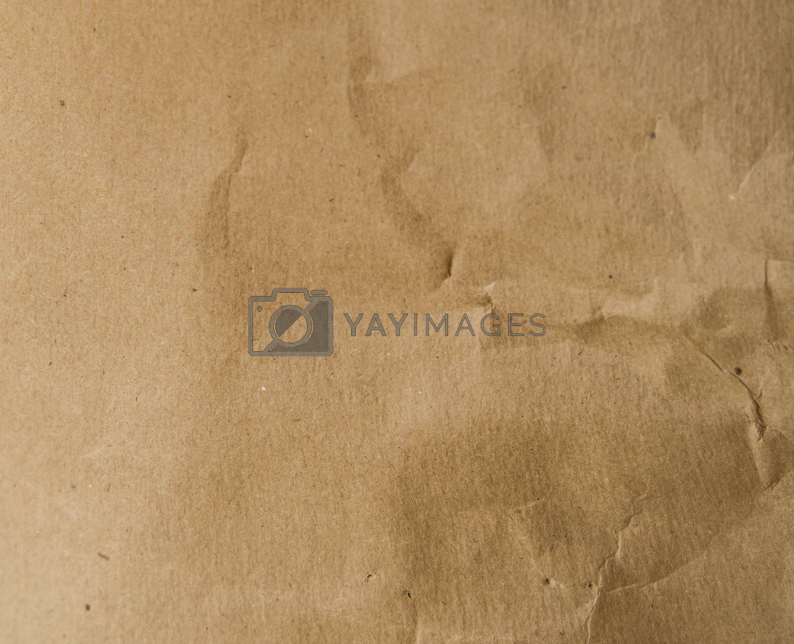Abstract texture of brown packaging paper, background.