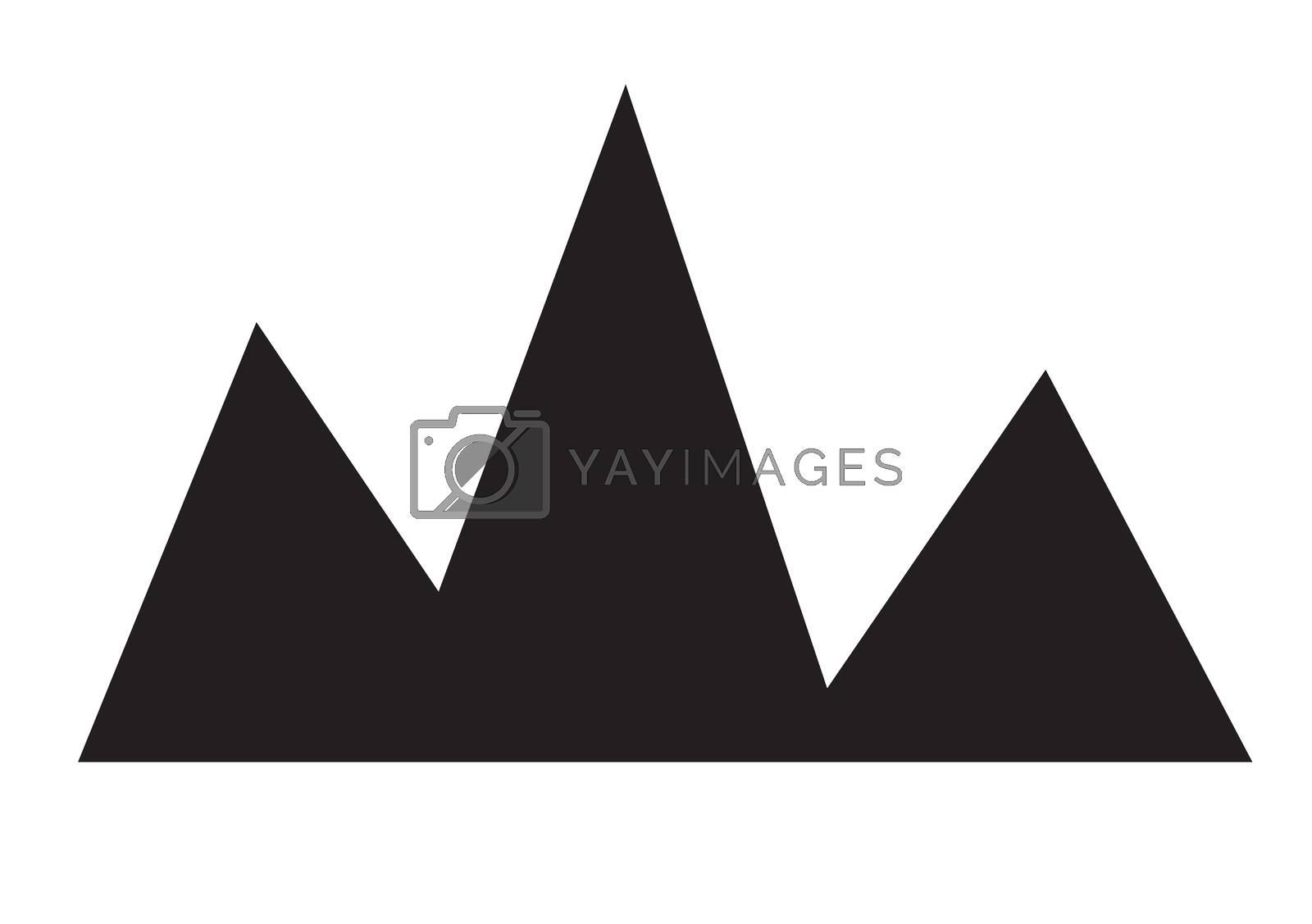 mountain icon on white background. flat style design. mountain sign.