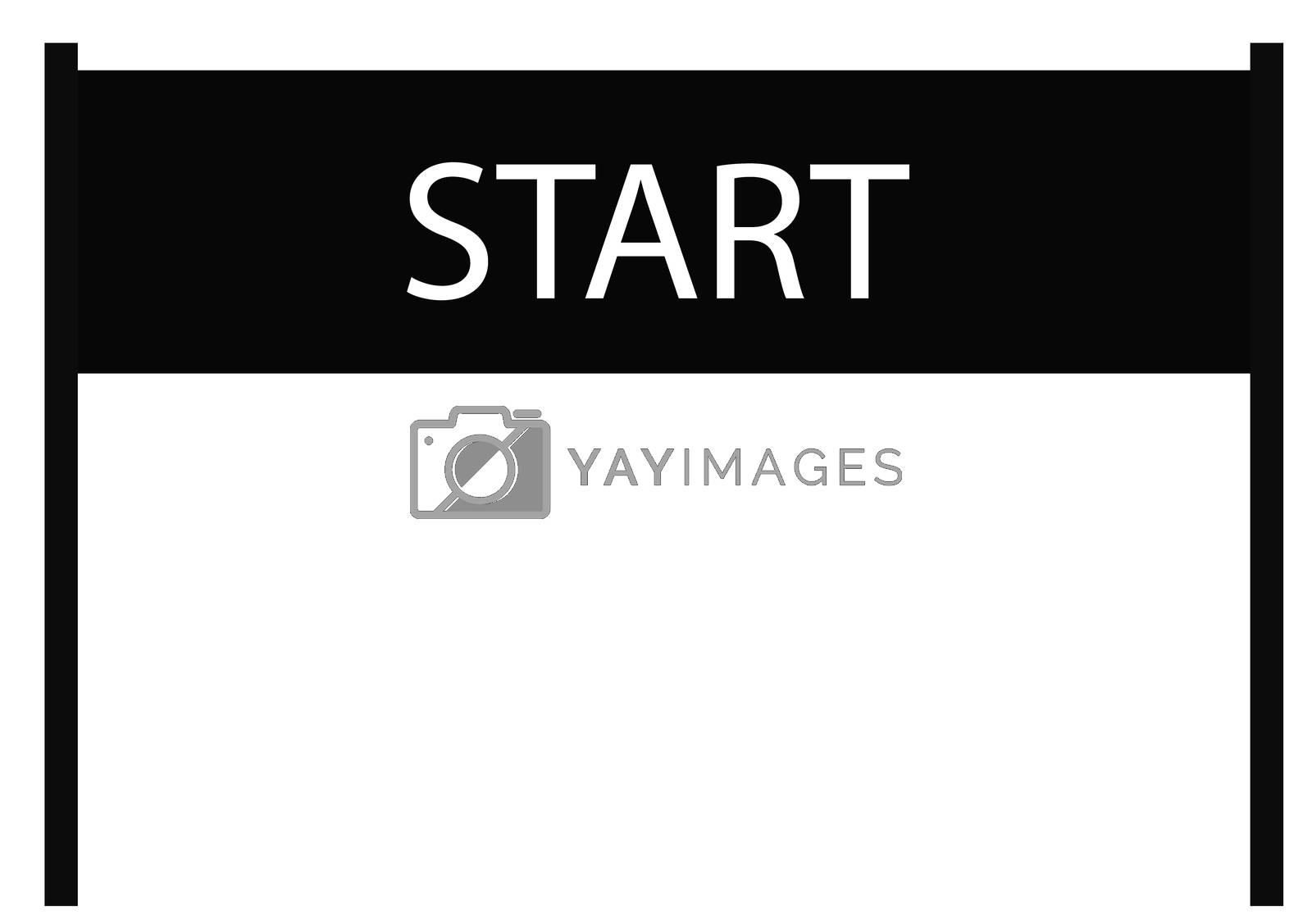 start icon on white background. start sign. flat style design. start banner.