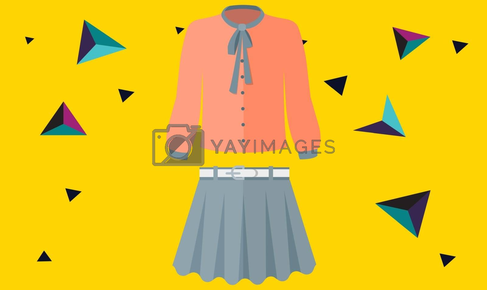 mock up illustration of sexy dress on abstract background