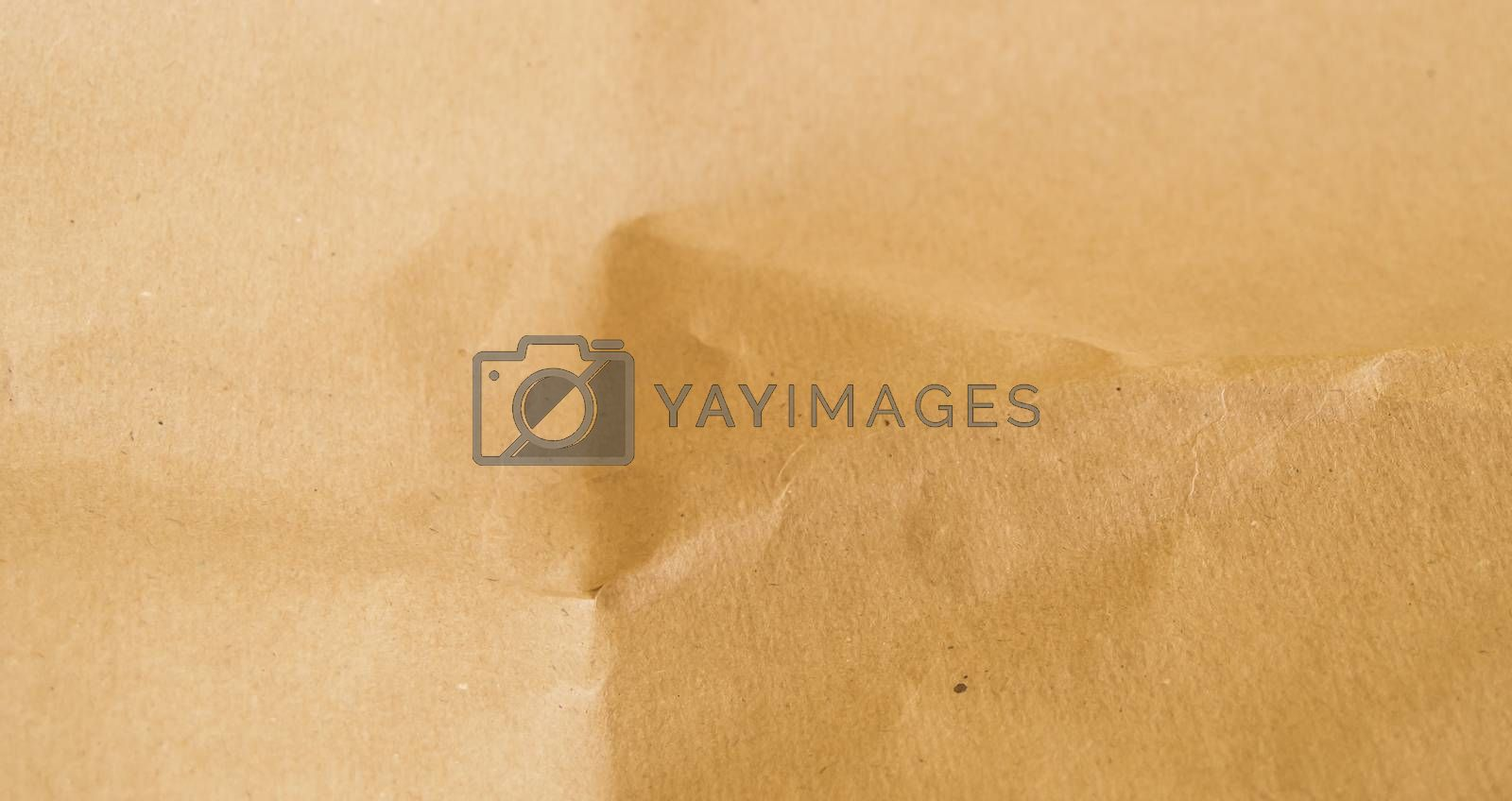 Abstract texture of brown packaging paper, banner.