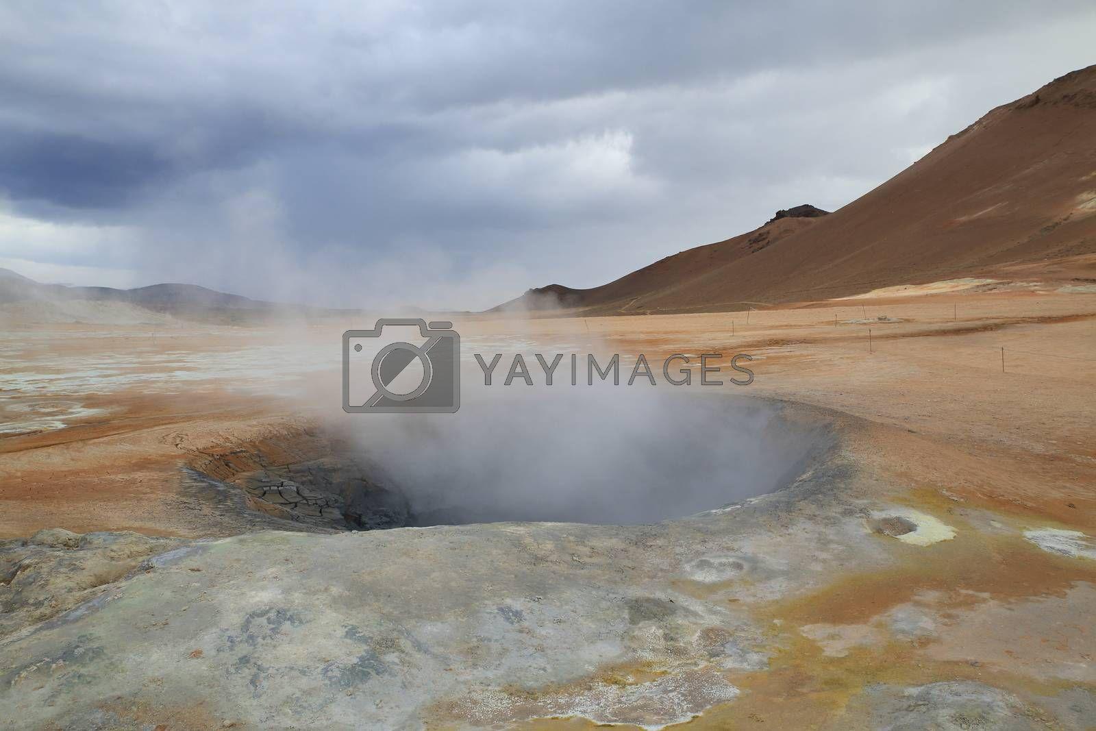 Namafjall geothermal area, near Lake Myvatn, Iceland by FrankFichtmueller