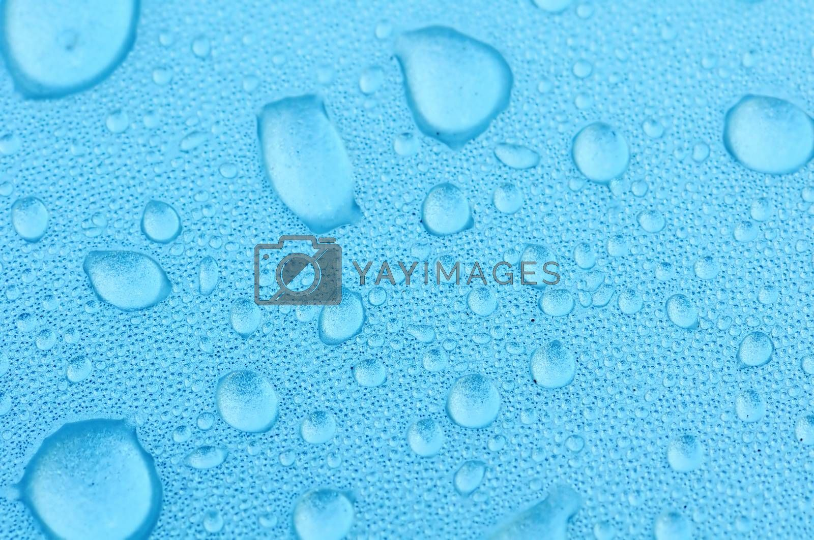 A blue water drops texture or background