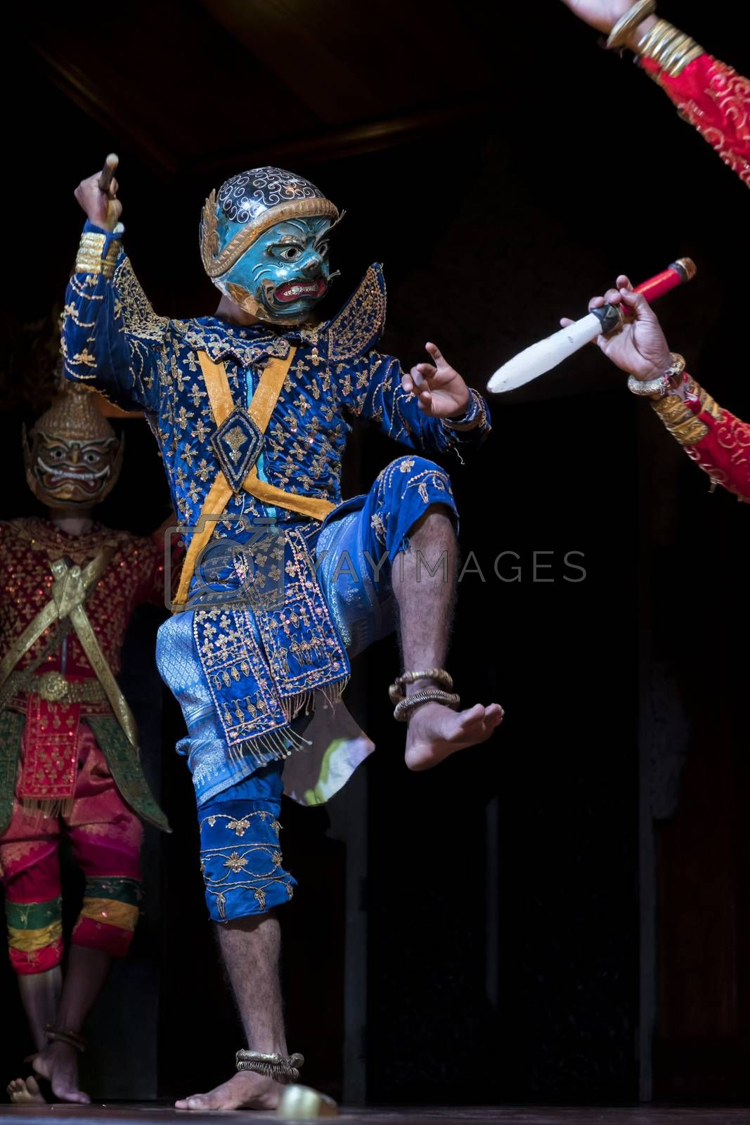 Khmer classical dance, a highly stylized dance and Cambodia's premier performing art (iconic of Cambodian culture)