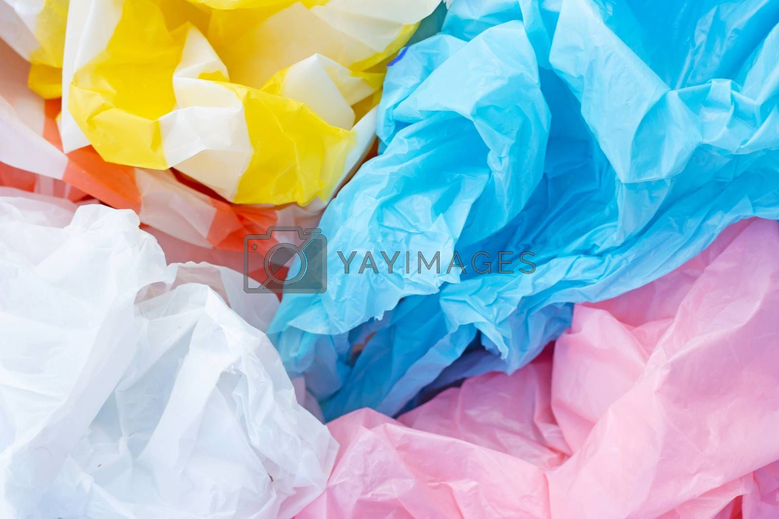 Colorful plastic bags  for background