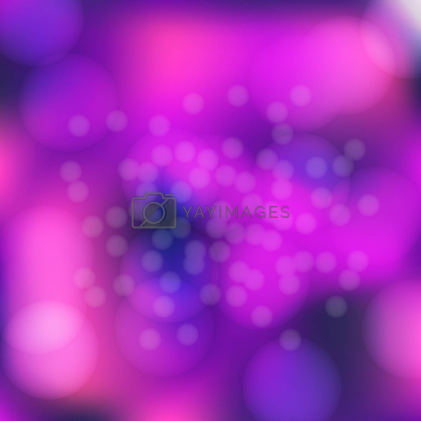 Amazing pink and purple bokeh abstract background. Vector format