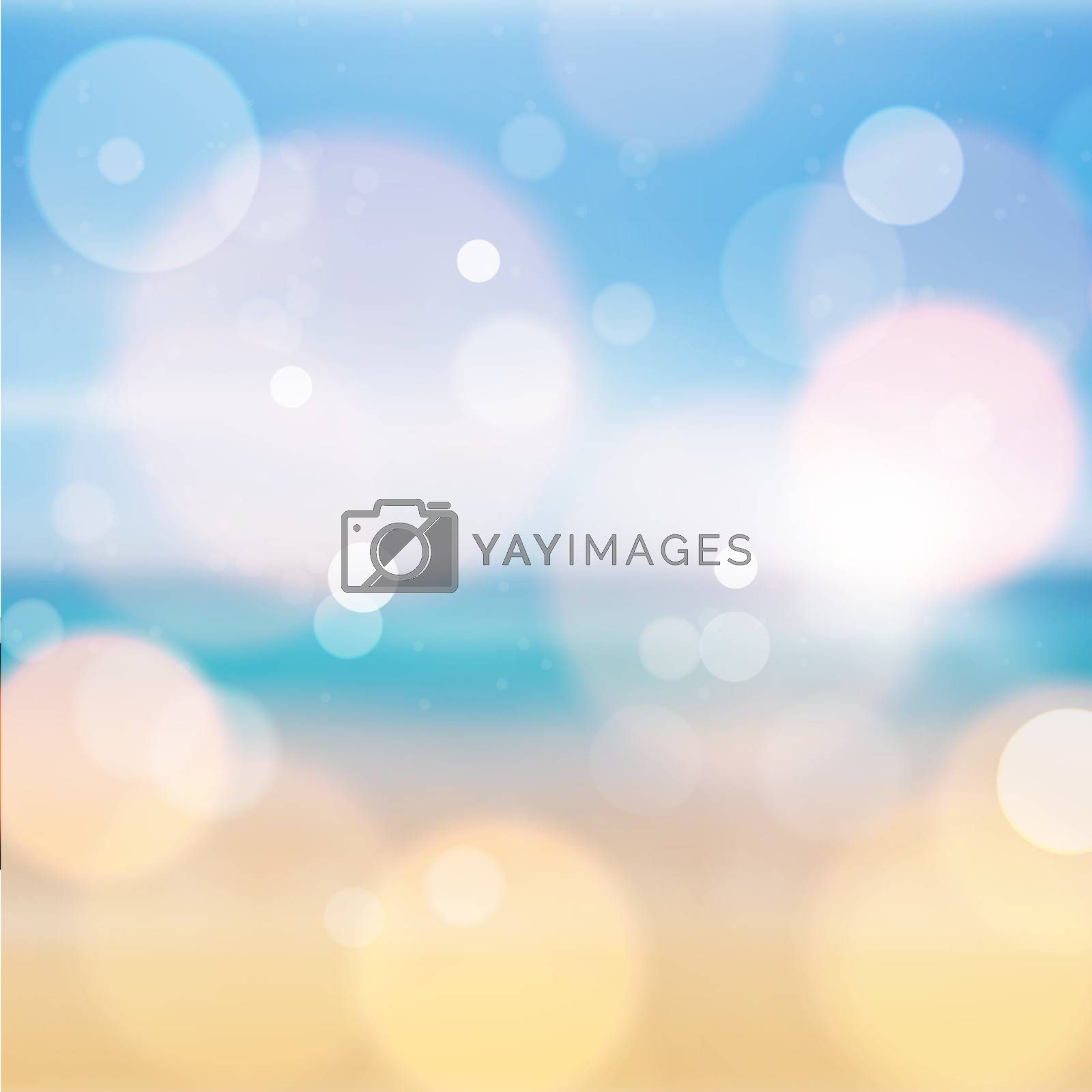 Amazing blue and yellow bokeh abstract background. Vector format
