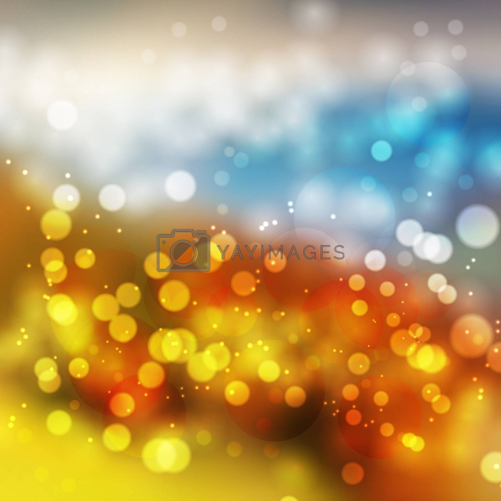 Amazing colorful bokeh abstract background. Vector format