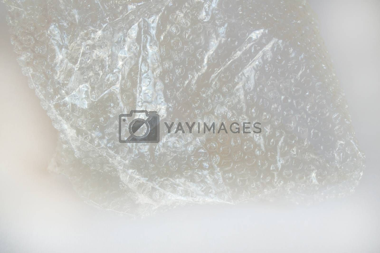 Bubble bursting plastic protective cellophane for packaging, texture background