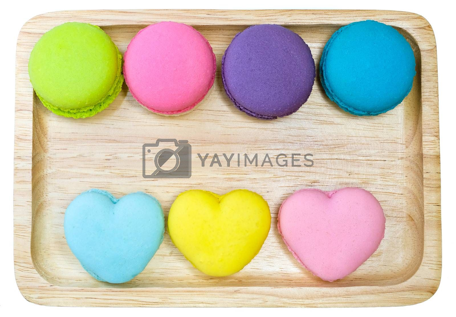 multi colored macaroons by Nawoot