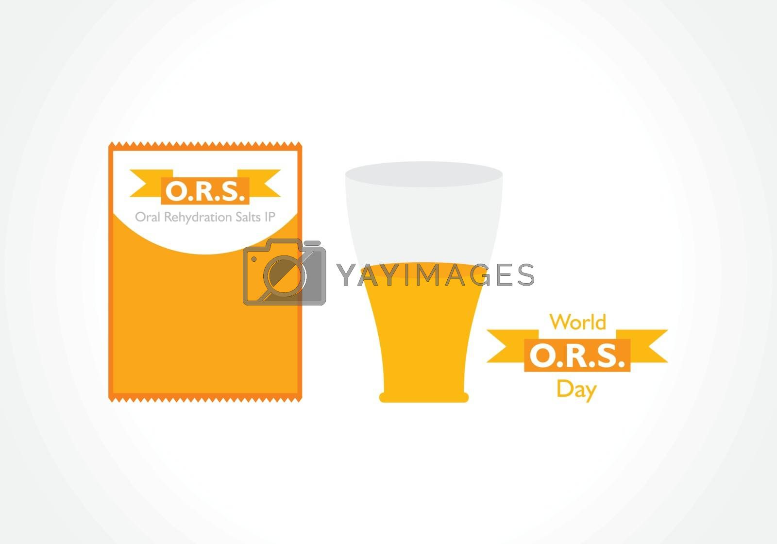 Vector illustration for World ORS(Oral Rehydration Salts IP) day observed on 29th July