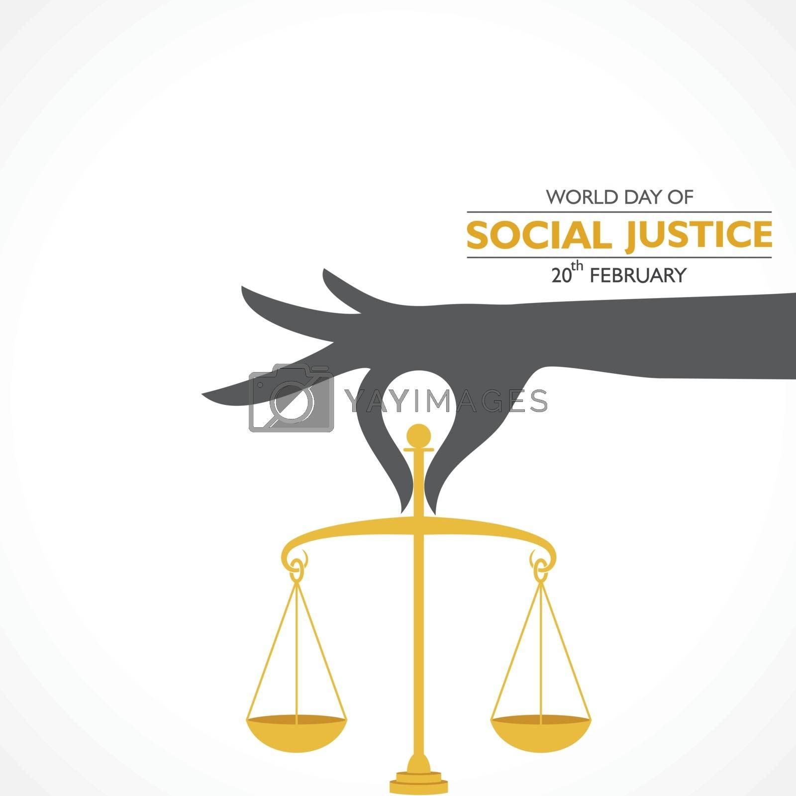 vector illustration for international day of Social Justice observed on 20th February , poster or banner design