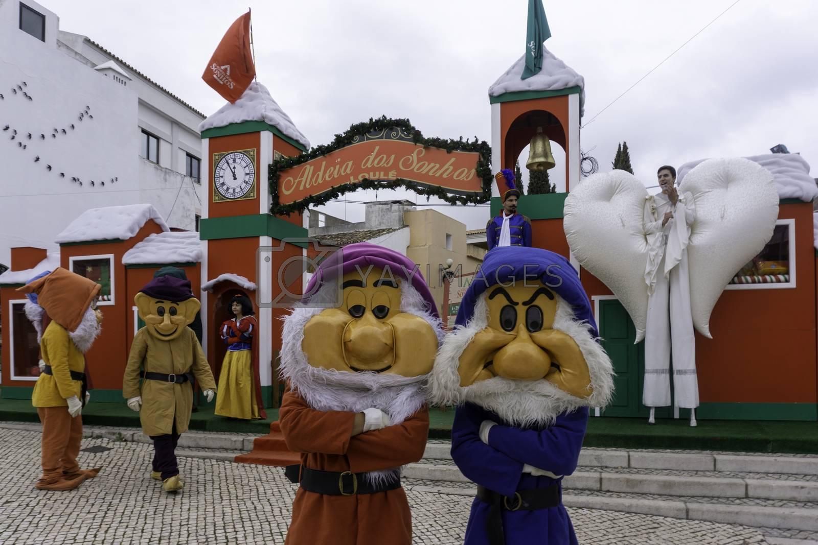 The. Aldeia dos Sonhos, the Village of Dreams part of the Christmas celebrations in Loulé.