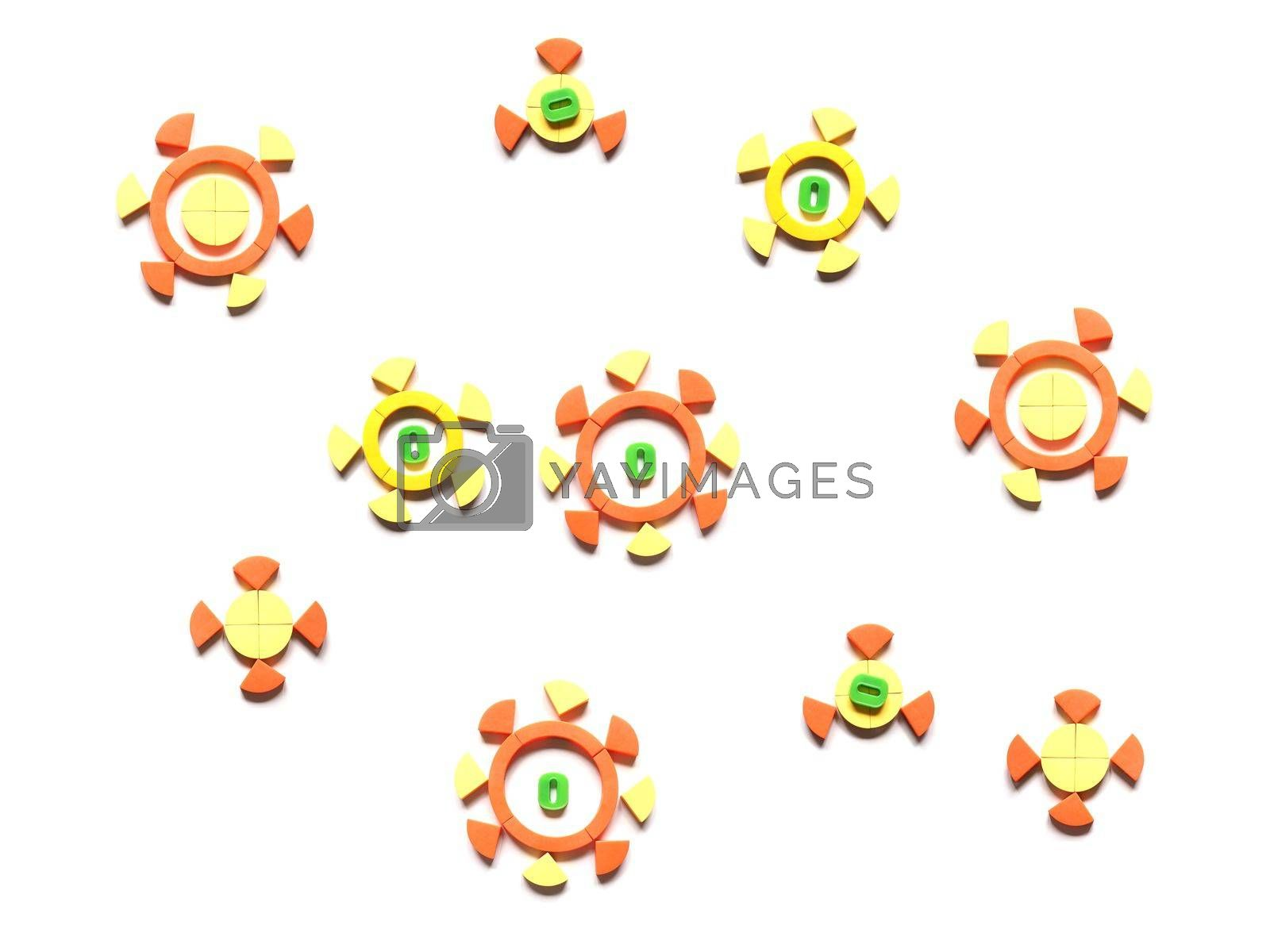 artist impression of a covid-19 aka coronavirus virus